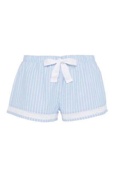 Blue Stripe Pyjama Short