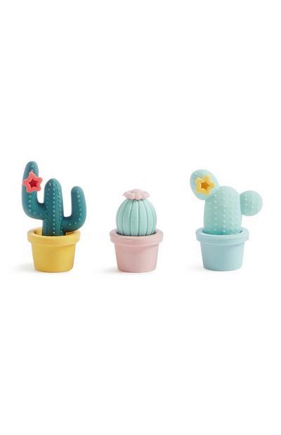 Cactus Rubber 3Pk