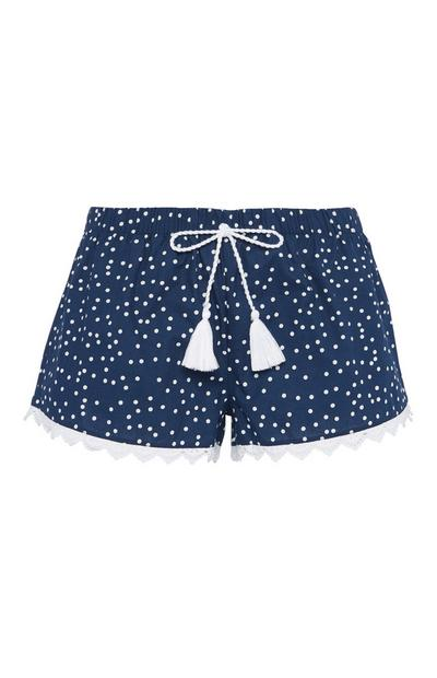 Blue Polka Dot Pyjama Short
