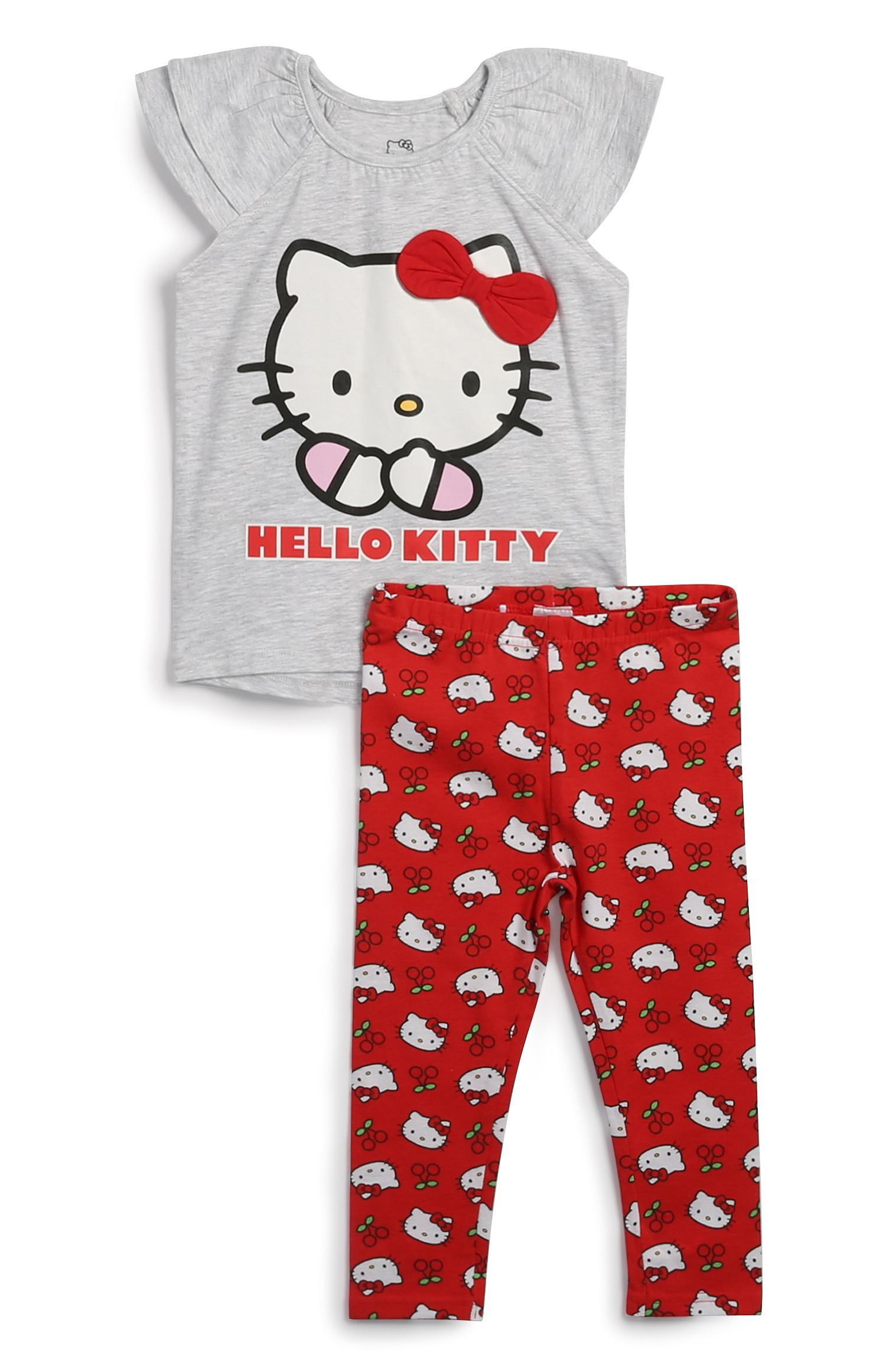 Younger Girl 2Pc Hello Kitty Pyjamas