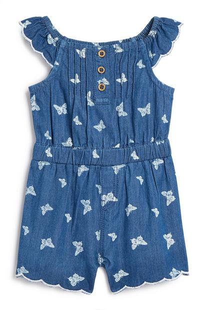 Baby Girl Denim Playsuit