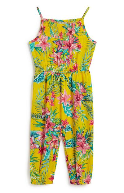Baby Girl Floral Jumpsuit