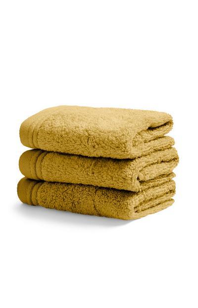Mustard Face Cloth 3Pk