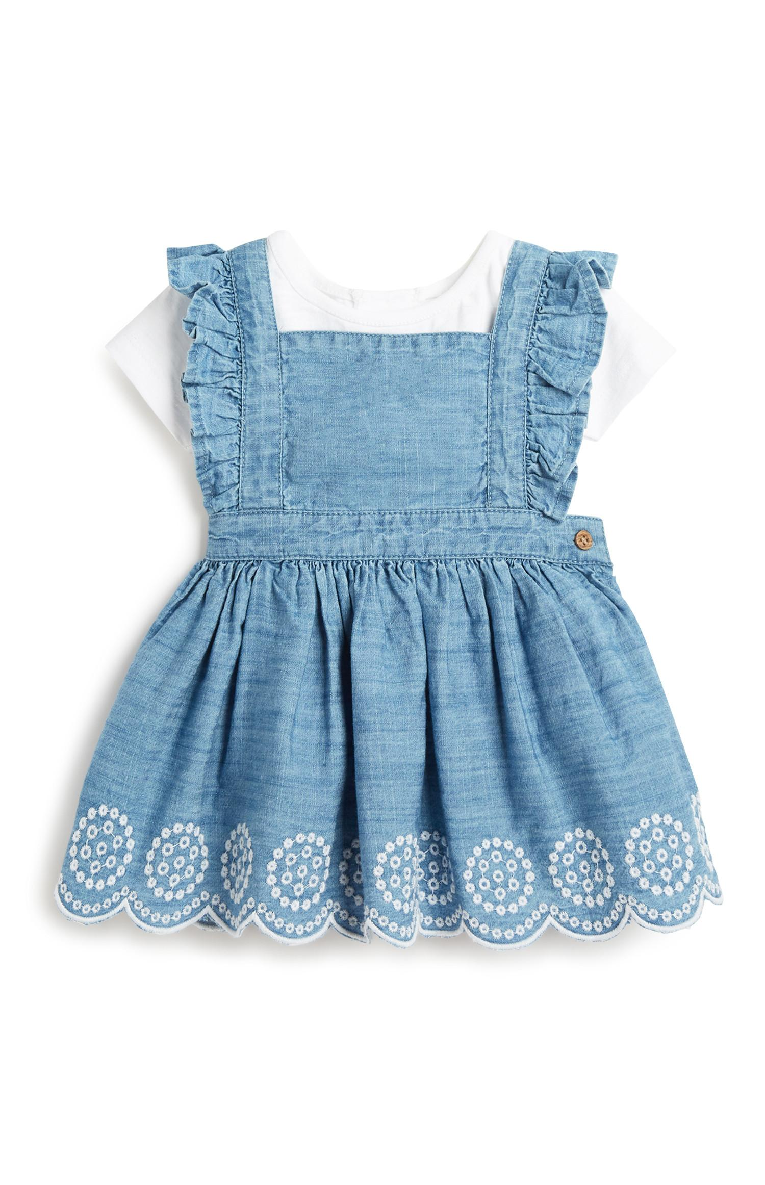 Baby Girl Denim Dress Outfit