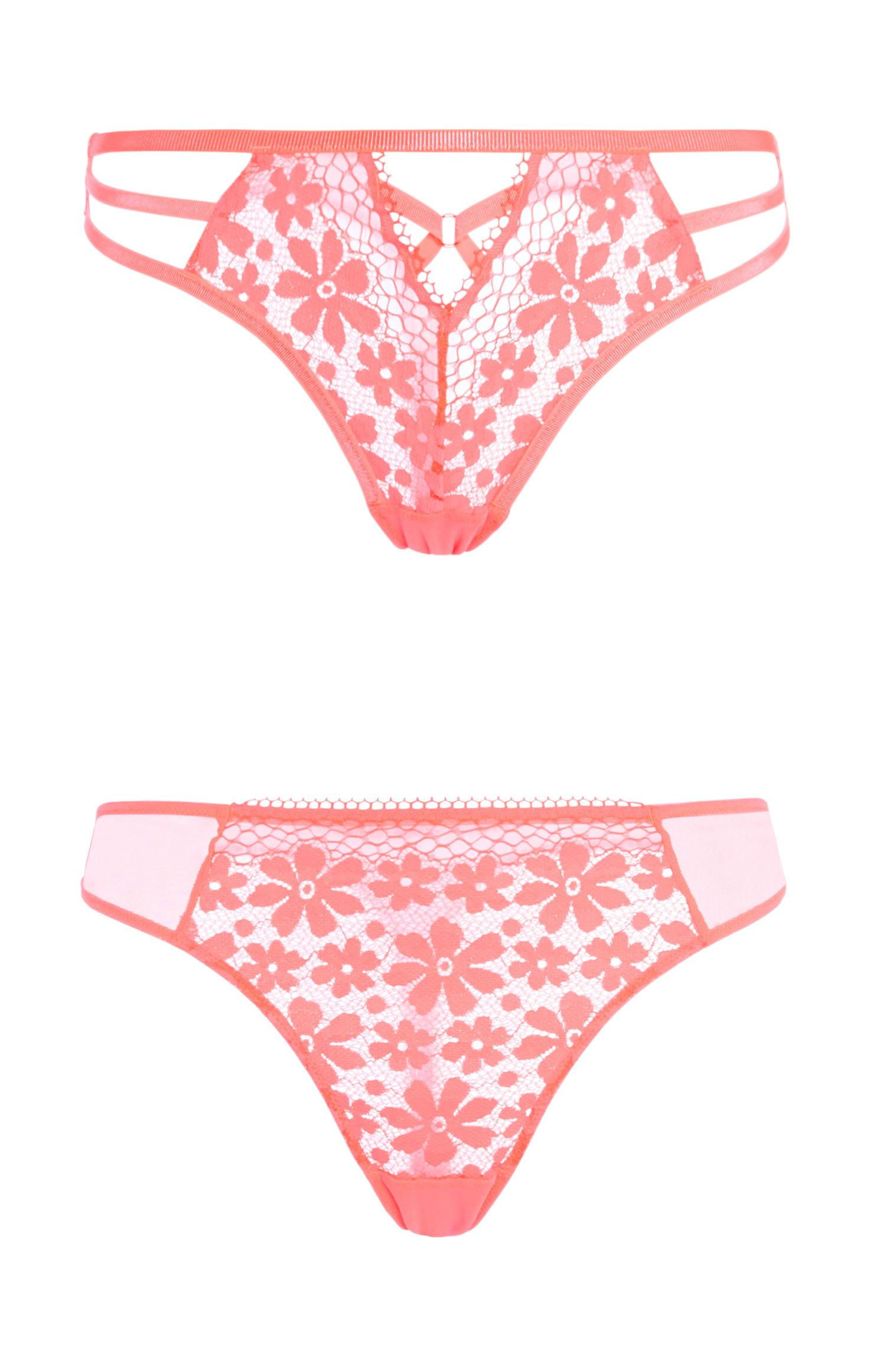 Coral Daisy Lace Brief 2Pk