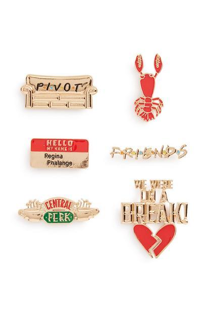 Friends Badge 6Pk