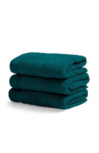 Teal Face Cloth 3Pk