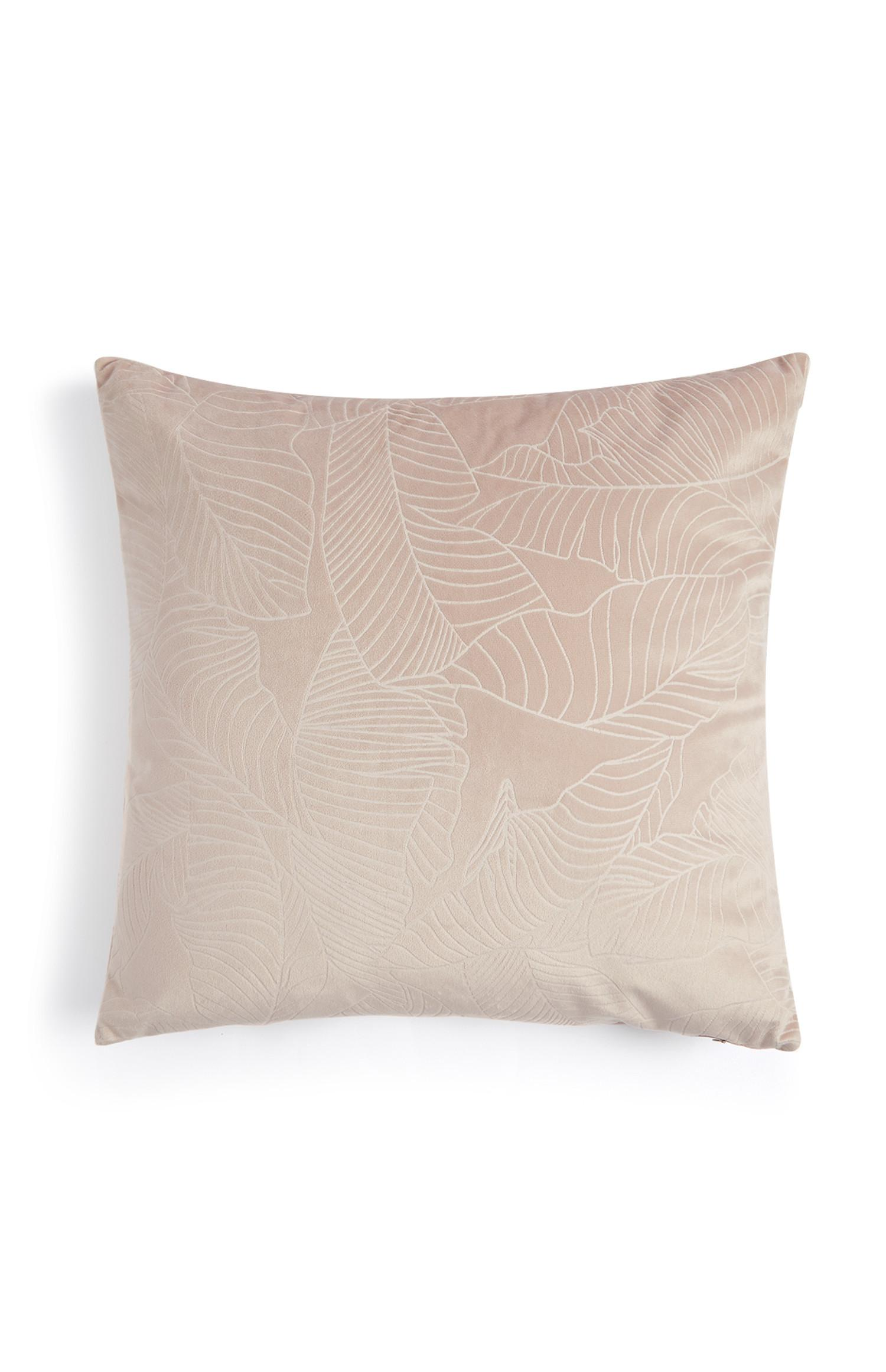 Pink Velvet Leaf Cushion