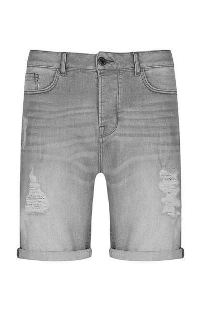 Grey Denim Short