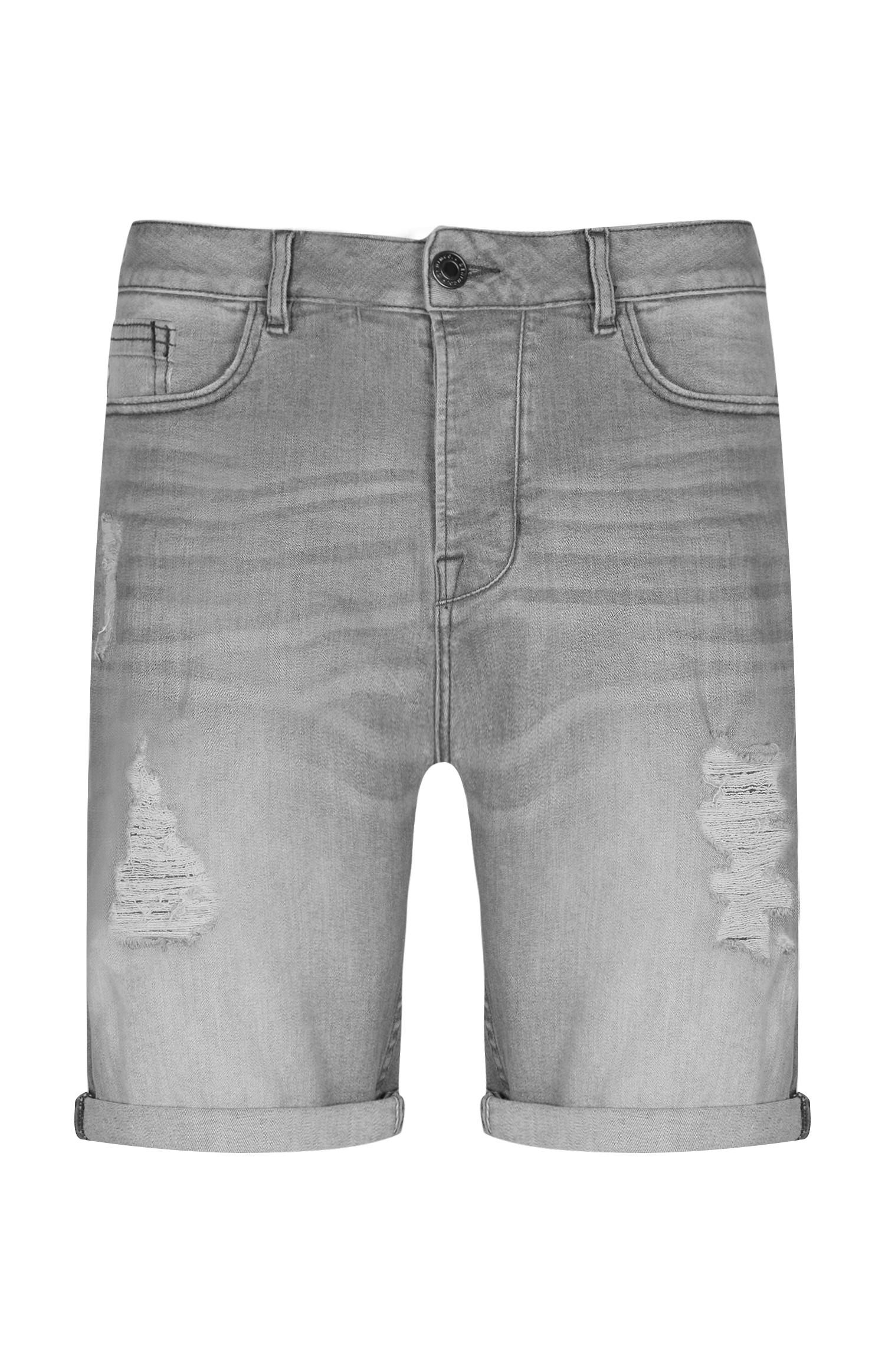 Grey Denim Short