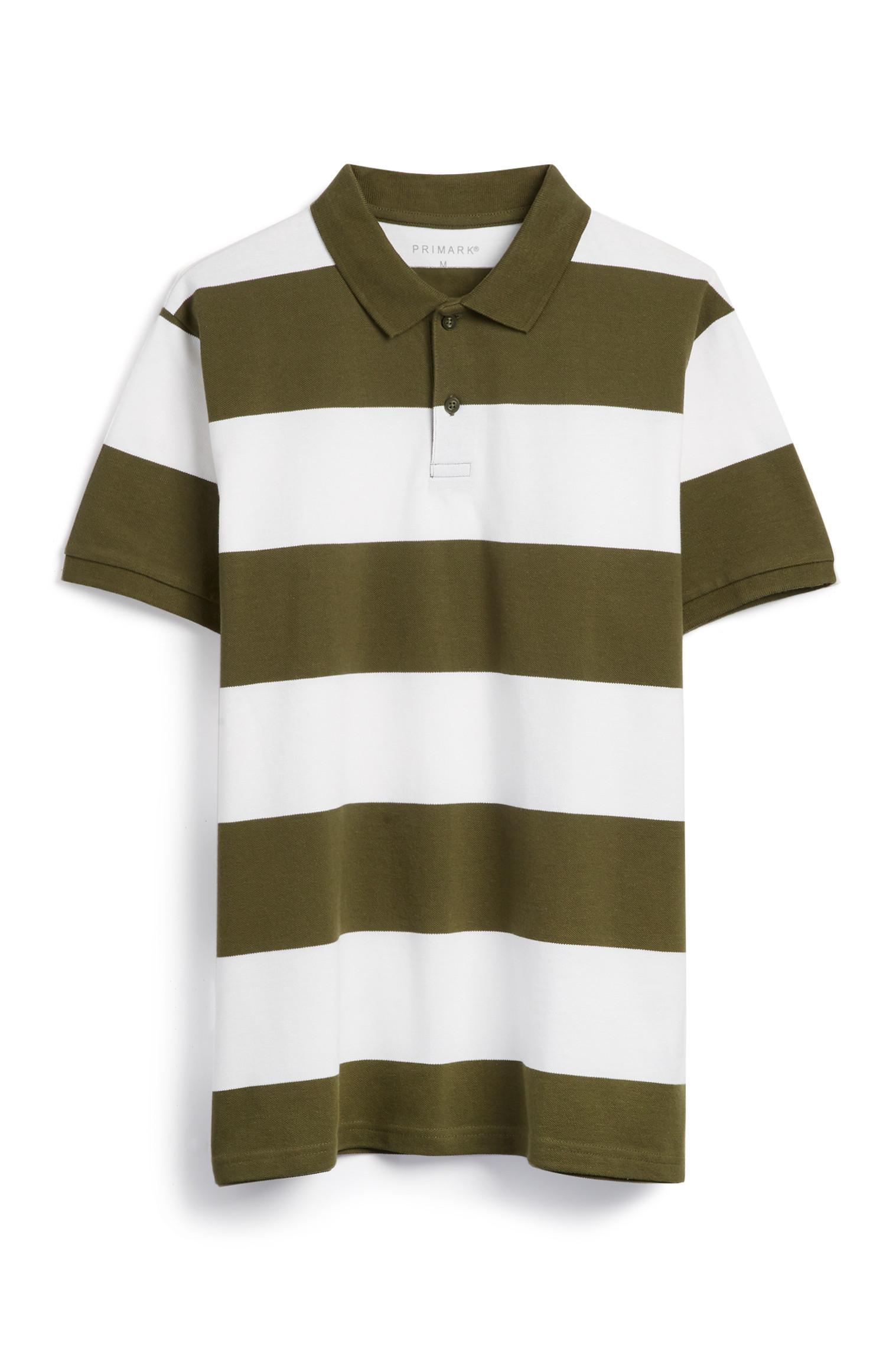 Green Stripe Polo Top