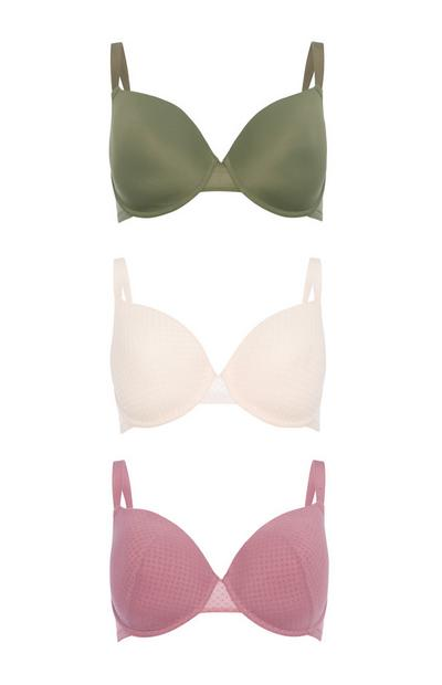 Assorted D-F T-Shirt Bra 3Pk