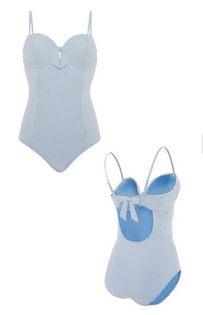 Blue Stripe Swimsuit