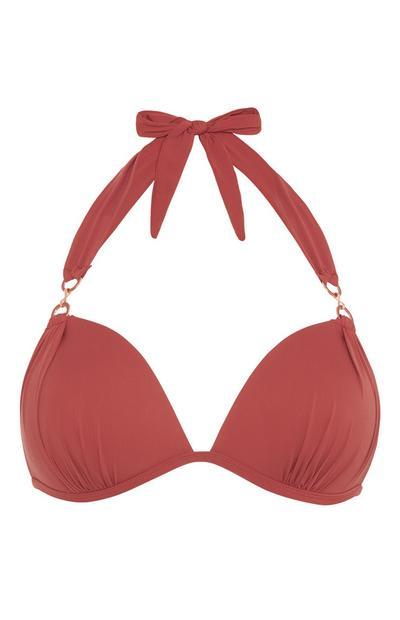 Rouge Plunge Bikini Top