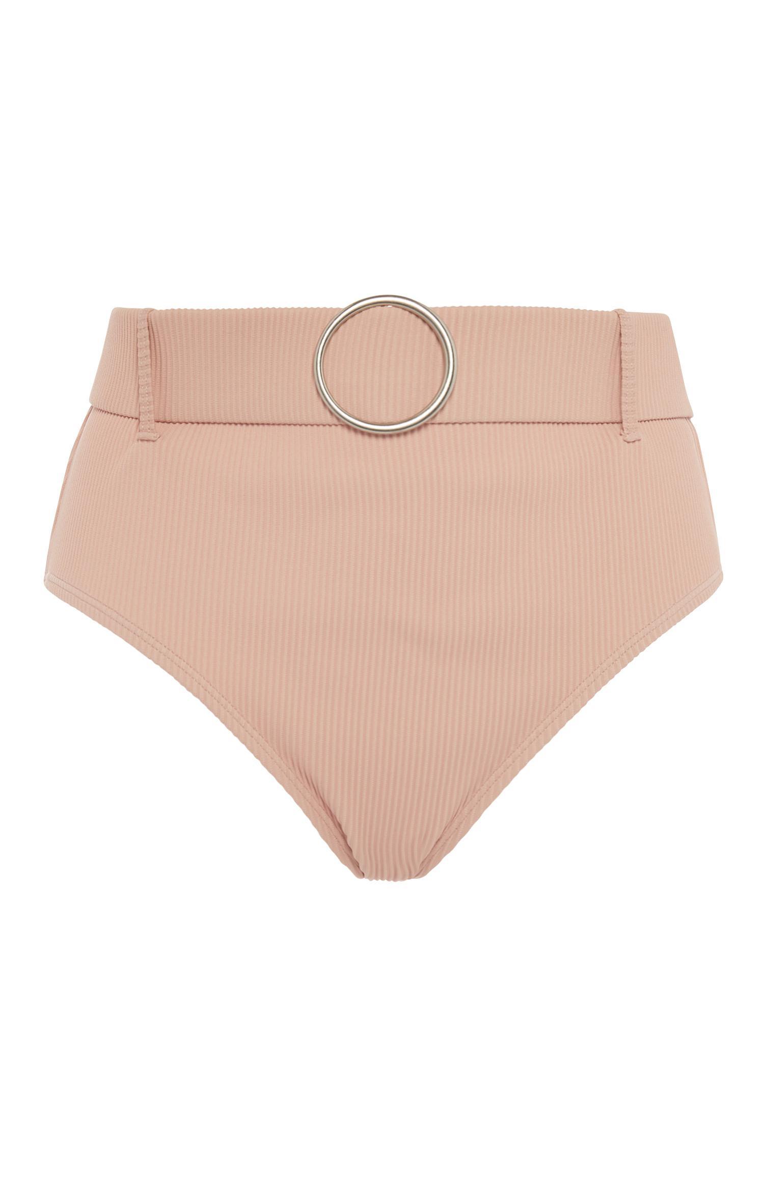 Nude Belted High Waisted Bikini Brief