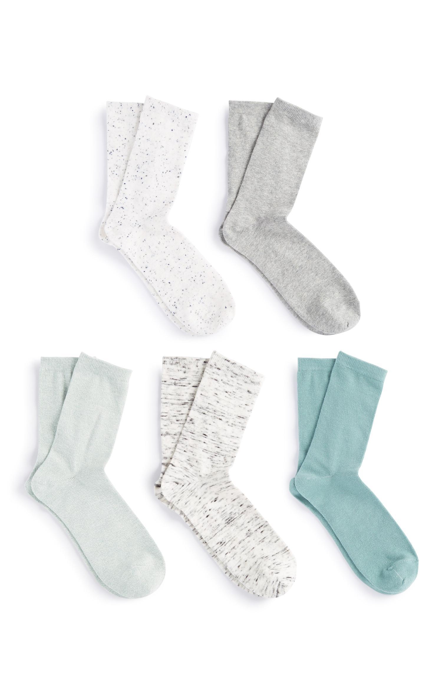 Grüne Socken, 5er-Pack
