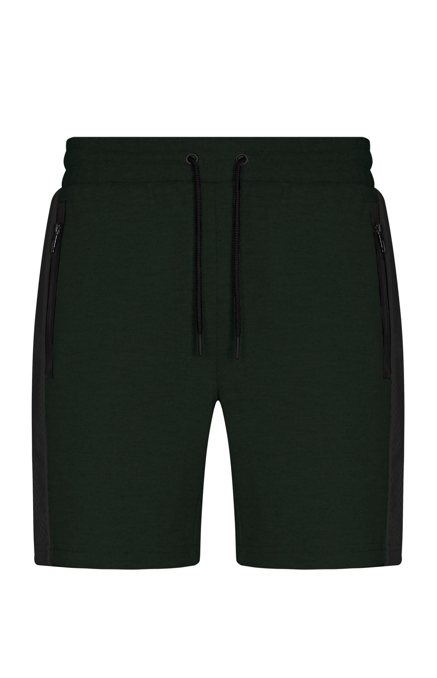 Khakifarbene Shorts aus Mesh