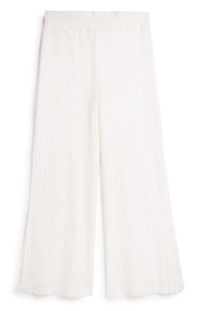 White Lace Trouser