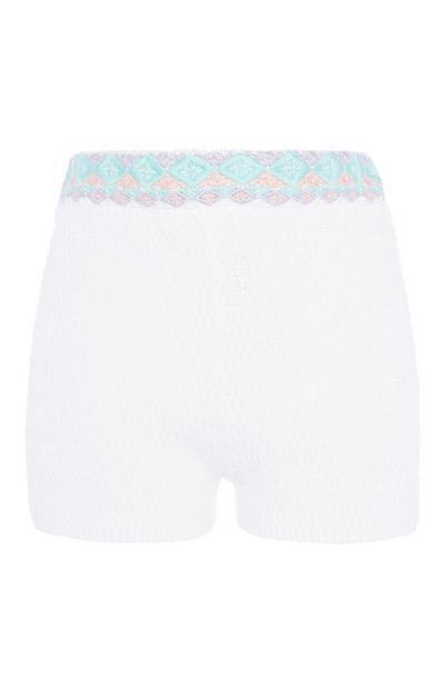 White Knit Short