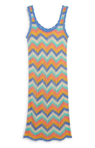 Zig Zag Knitted Beach Dress