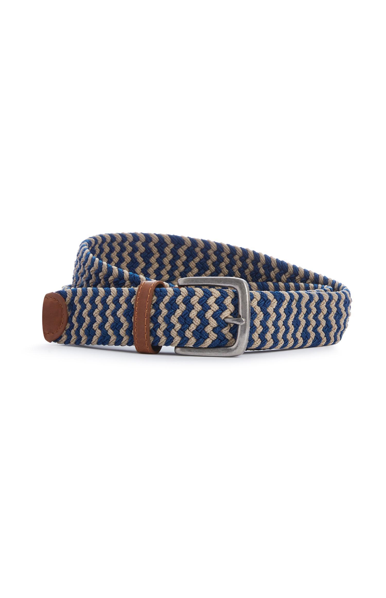 Blue Woven Fabric Belt