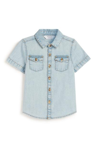 Baby Boy Acid Wash Denim Shirt
