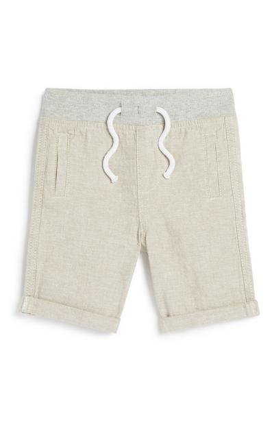 Baby Boy Linen Short
