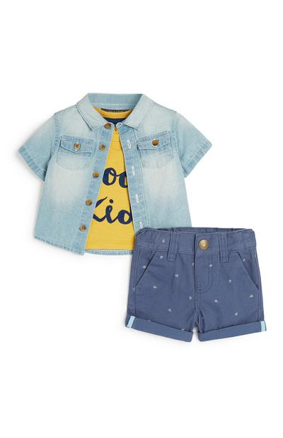 Baby Boy 3Pc Outfit Set