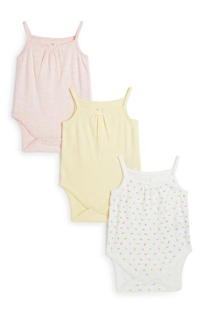 Newborn Cami Bodysuit 3Pk