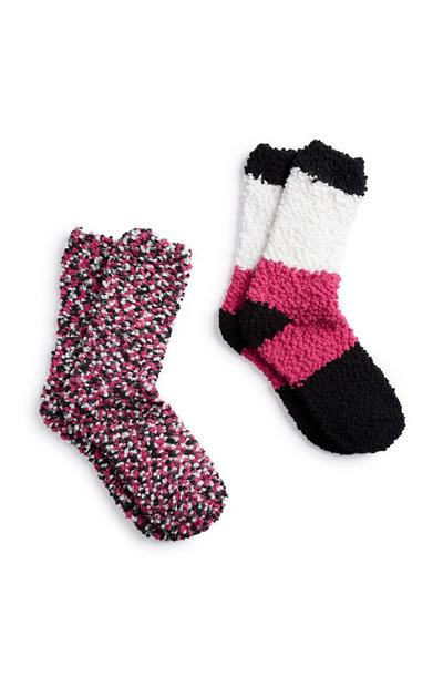 Fluffy Sock 2Pk