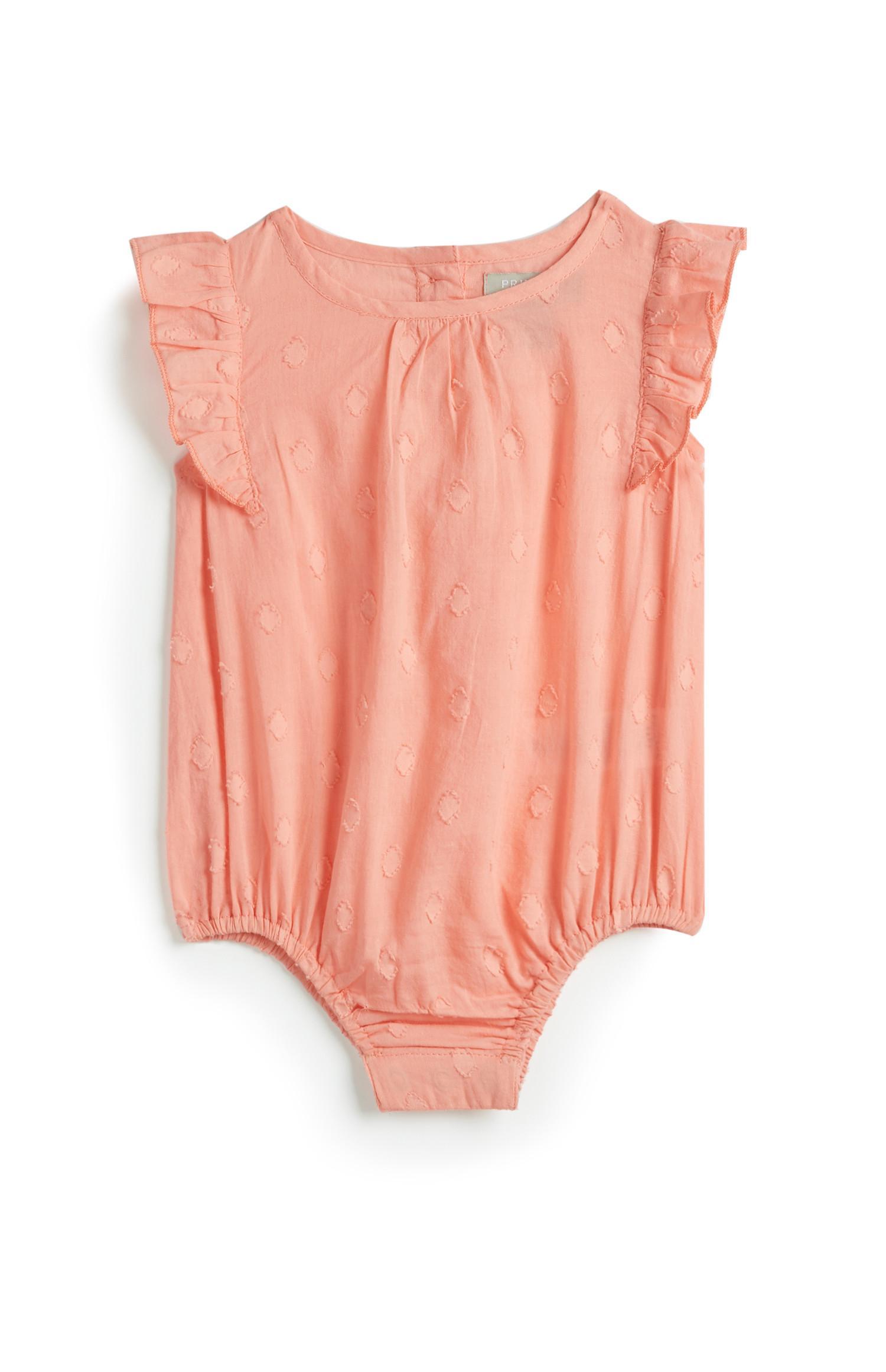 Newborn Girl Pink Romper