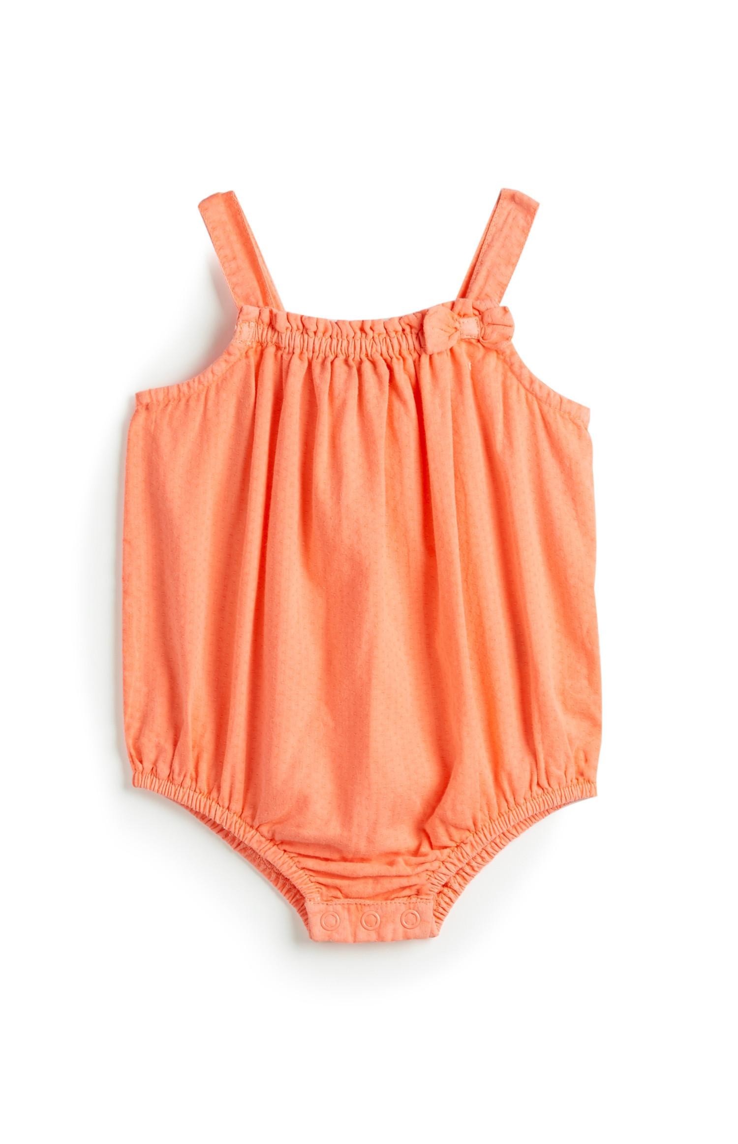 Newborn Girl Orange Romper