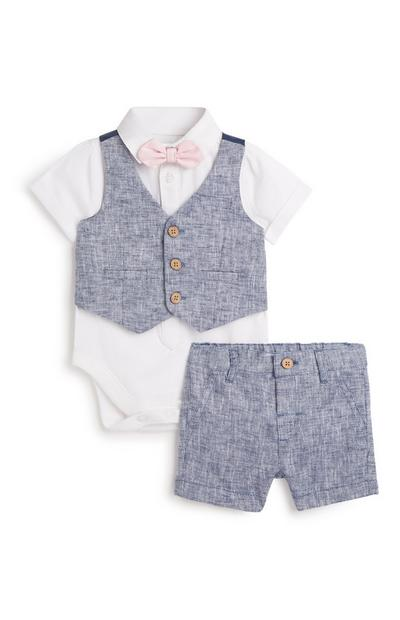 Newborn Formal 4Pc Outfit Set