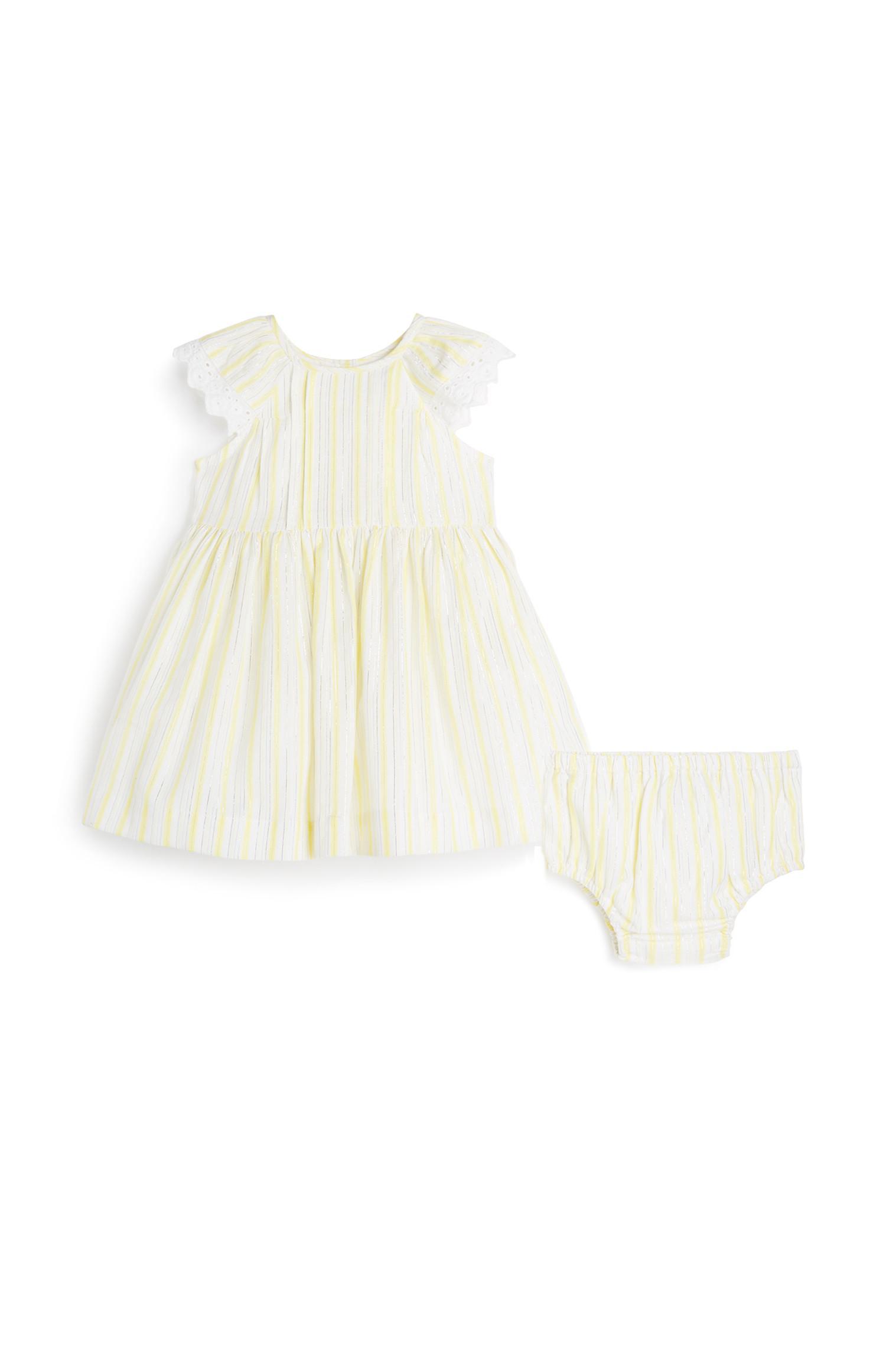 Newborn Girl Dress And Brief Set