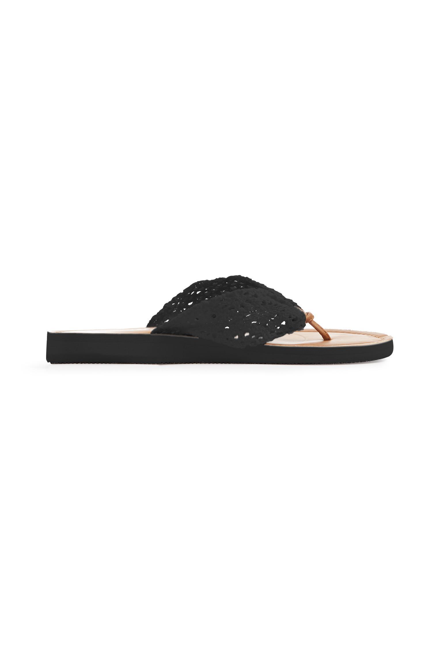 Black Crochet Flip Flop