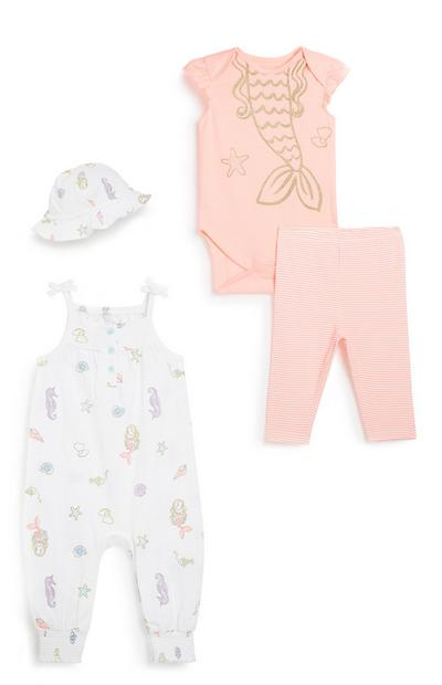 Baby Girl 4Pc Outfit Set