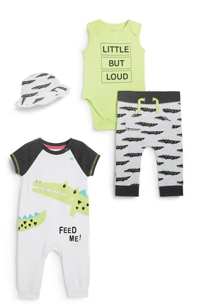 Baby Boy 4Pc Outfit Set