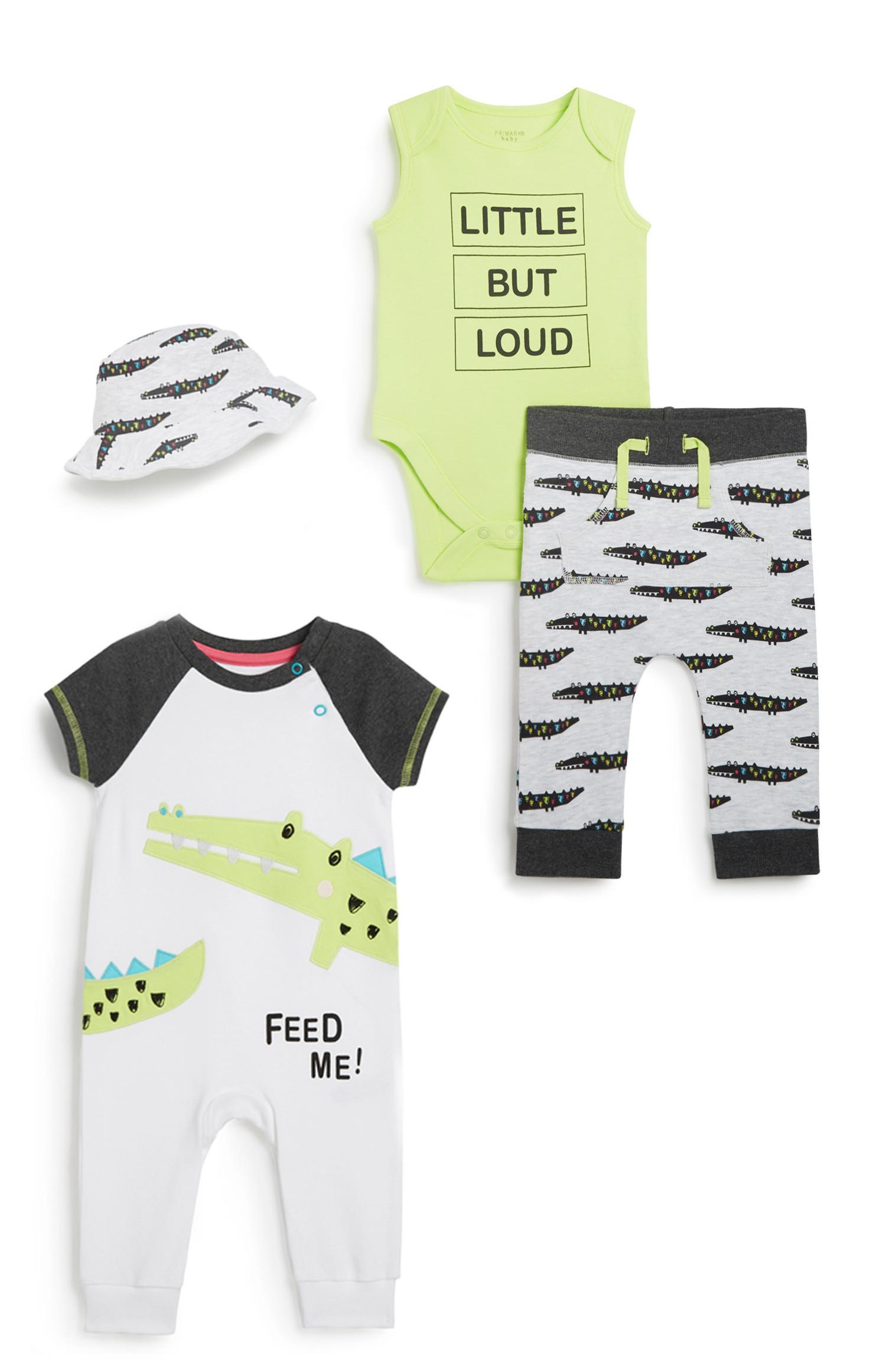 Baby-outfit voor jongens, 4-delig