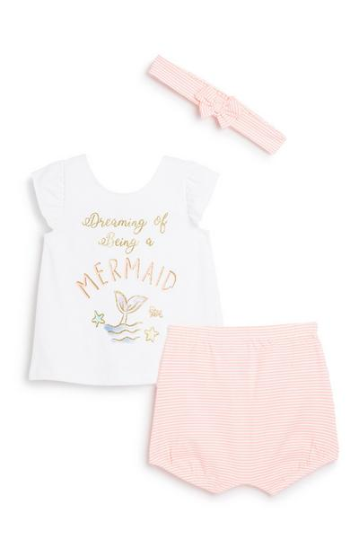 Newborn Baby Girl 3Pc Outfit Set