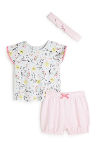 Baby Girl 3Pd Outfit Set