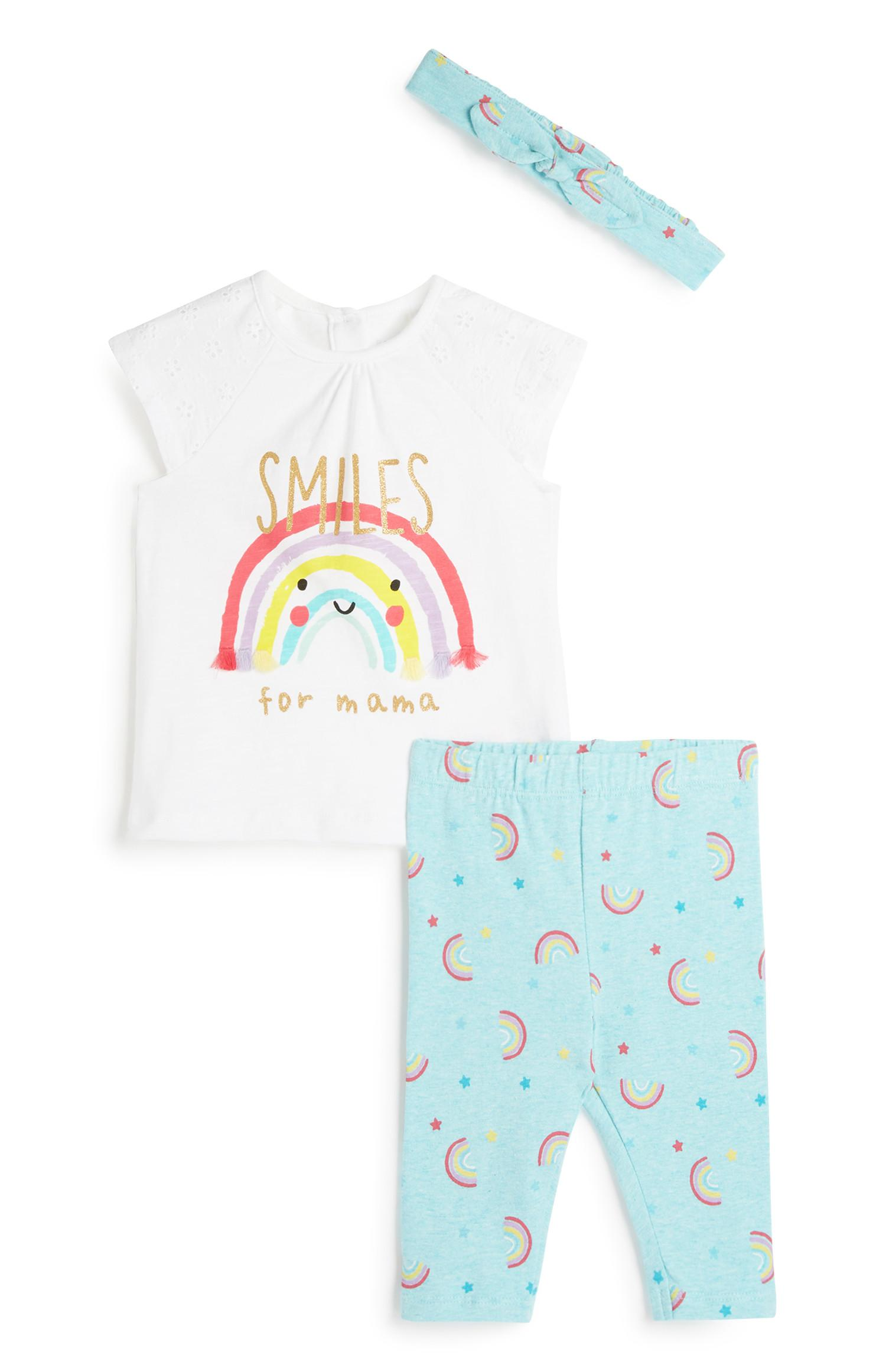 Baby Girl 3Pc Outfit Set