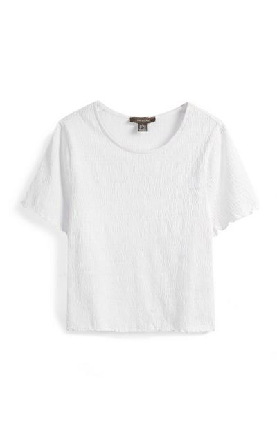 White Crinkle Top