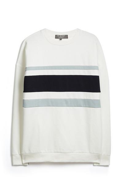 White Stripe Sweatshirt