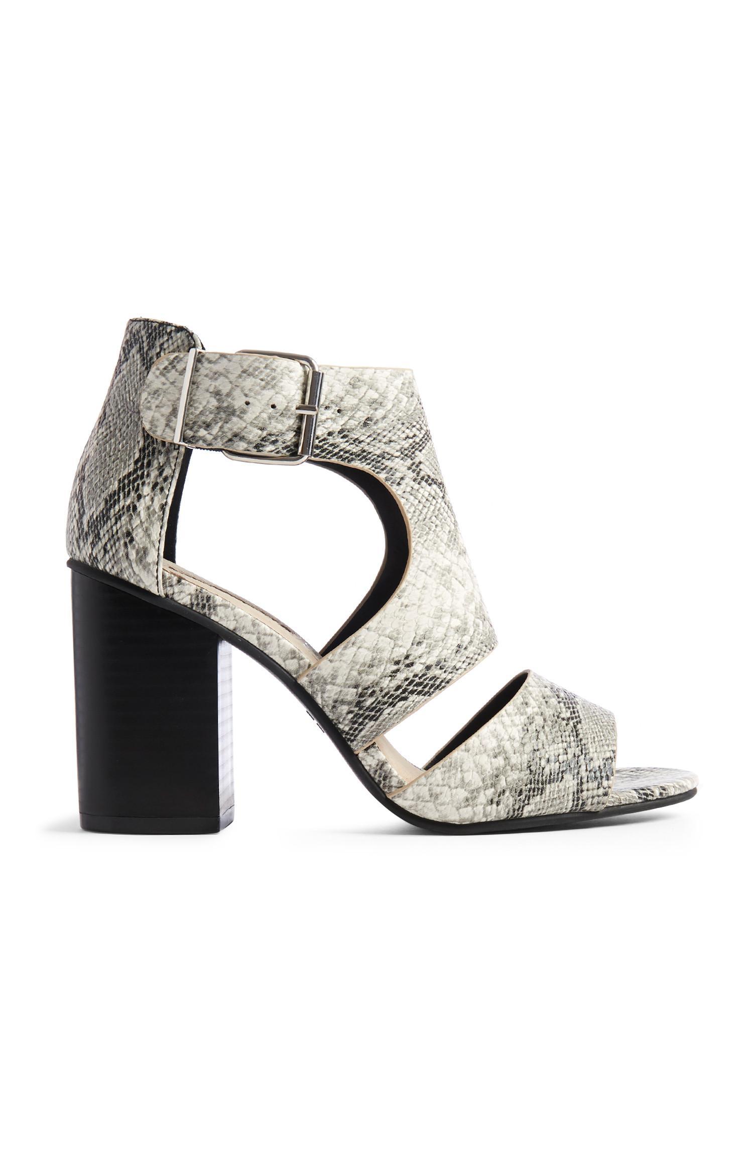 Snake Cutout Sandals