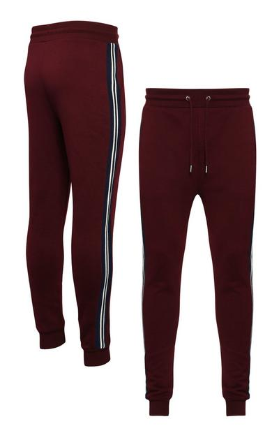 Wine Side Stripe Jogger