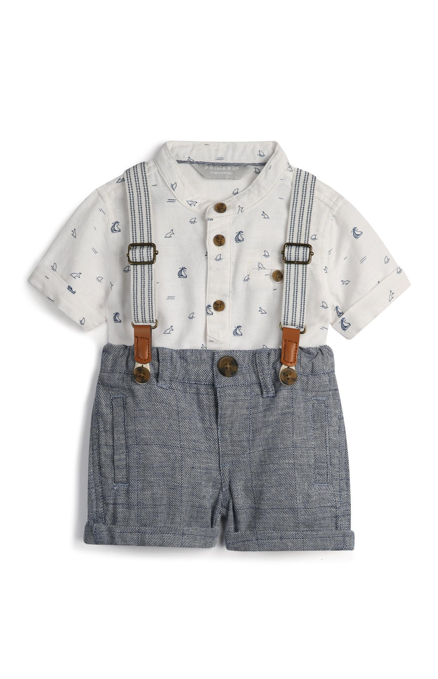 Chemise à motif voilier bébé garçon