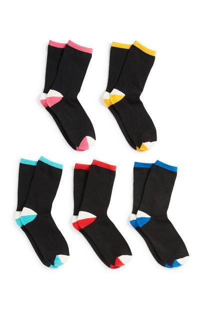 Black Socks 5Pk