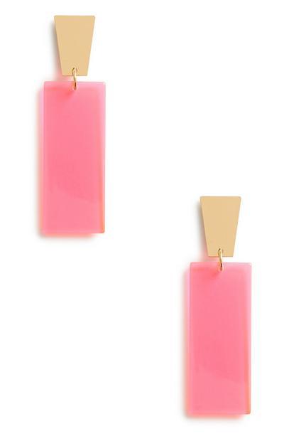 Neon Pink Earrings 3Pk