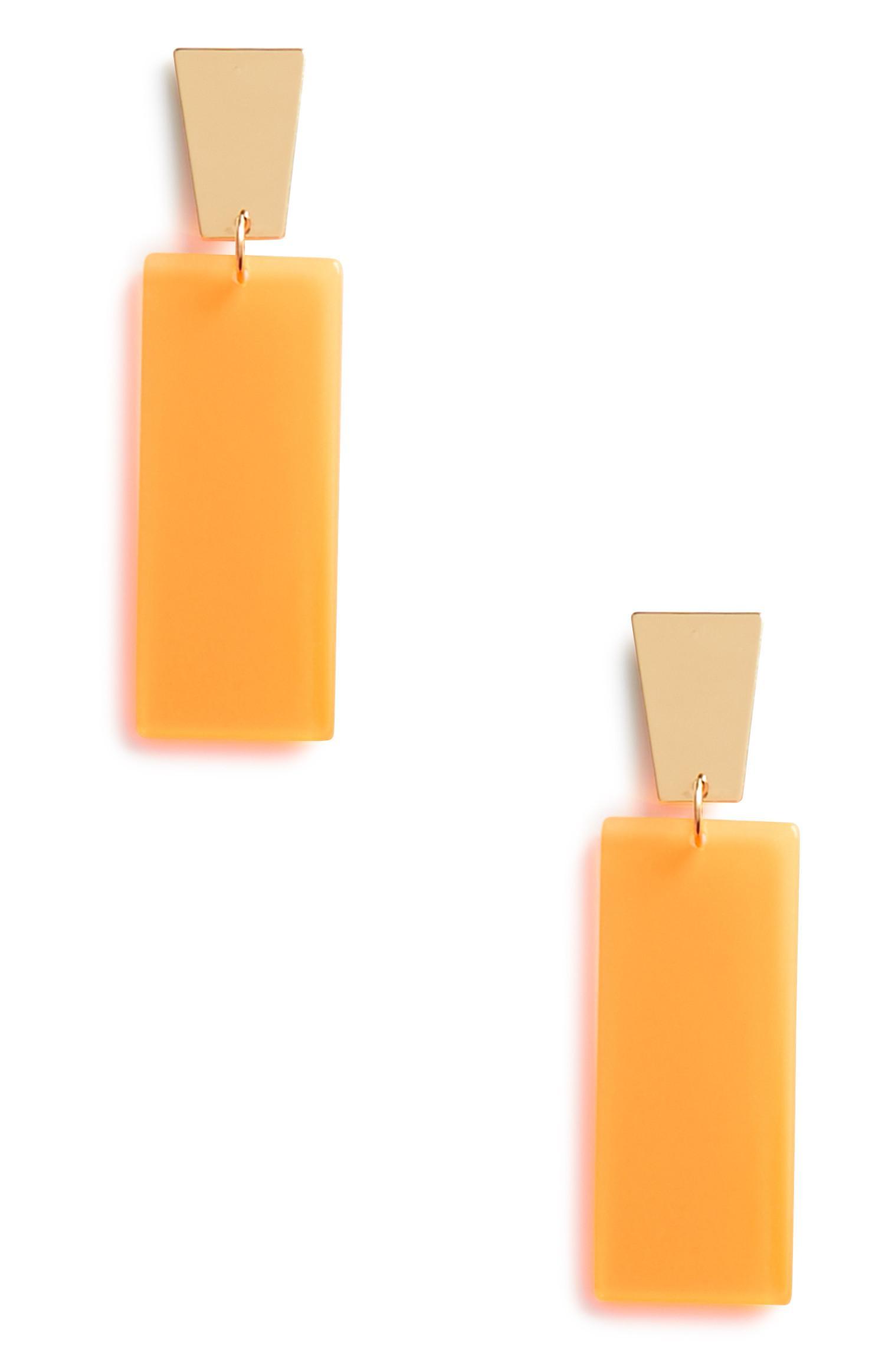 3paires de boucles d'oreilles orange