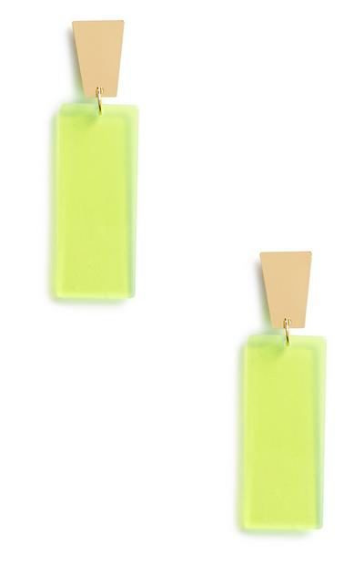 Green Neon Earrings